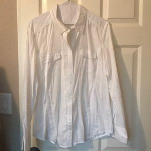Sheer white button up